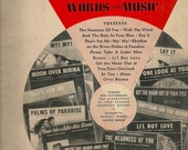 Sixth Paramount Song Folio with Words and Music for ukulele, piano, guitar, and banjo - 1941 - Vintage Sheet Music Book