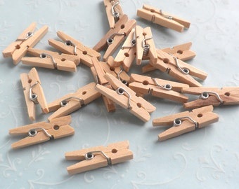 Miniature Working Clothes Pins - Set of 25 - Dollhouse Supplies