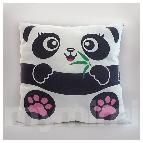 Zoo Animal Pillows : 12 x 12 Panda Pillow Jungle Animals Stuffed Animal