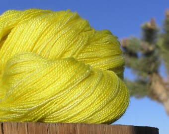 Lace Weight Yarn - BFL Wool and Silk - Blazing Star