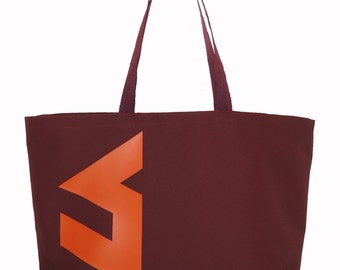 Sale Sale Sale  VT Waterproof Canvas Tote Bag Go HOKIES