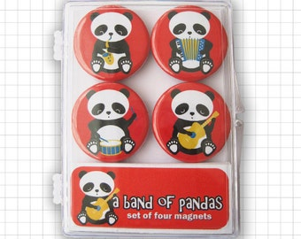A Band Of Pandas Magnet Set
