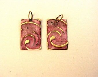Copper Patina Earring Components