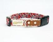 Liberty of London, Red Betsy Ann. Hemp Dog Collar. Small-Medium-Large.