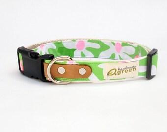Eco-Friendly Dog Collar.  Lilly Pulitzer Everything Nice. Adjustable Sizing.