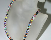 Merry Go Round ... Necklace . Choker . Bead Crochet . Multicolor . Colorful . Whimsical . Striped . Rainbow . Seed Bead Jewelry . Handmade