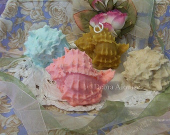 Ruffled Seashell Ocean Silicone Soap Mold Candle Mold Natures Molds DIY Craft Molds Beach Shells