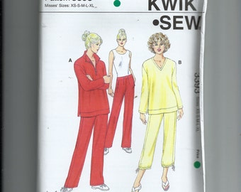 Kwik Sew Misses' Tops  and Pants Pattern 3393