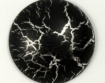 25mm Black and Silver Cabochon #1895