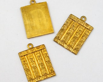 15mm Egyptian Tablet Charm #2082