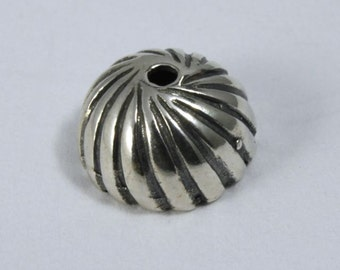 Sterling Silver 8mm Bead Cap #BSB024