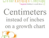 Centimeters on a Growth Chart instead of inches for the measurements