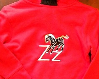 Z is for Zebra Hoodie