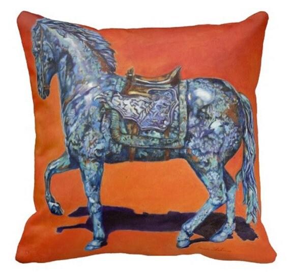 Decorative Horse Pillows : Pillow Horse Pillow Horse Throw Pillow Horse Art Pillow