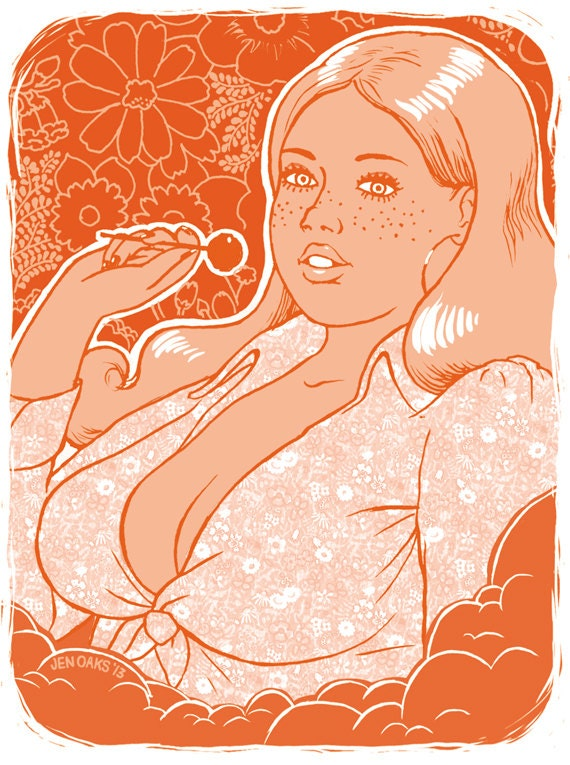 70s Dream Girl Stickers #2 - 3-pack