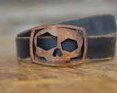 Skull Belt Buckle & Belt Combo by Fosterweld