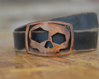 Skull Belt Buckle & Belt Combo by Fosterweld