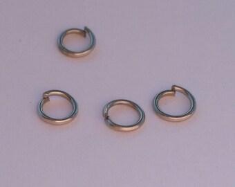 5mm Iron Jump Rings - 300 pcs.- Silver Jump Rings - Close Jump Rings