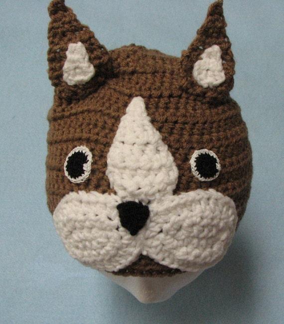 Boston Terrier Hat Crochet Pattern by DonnasCrochetDesigns ...