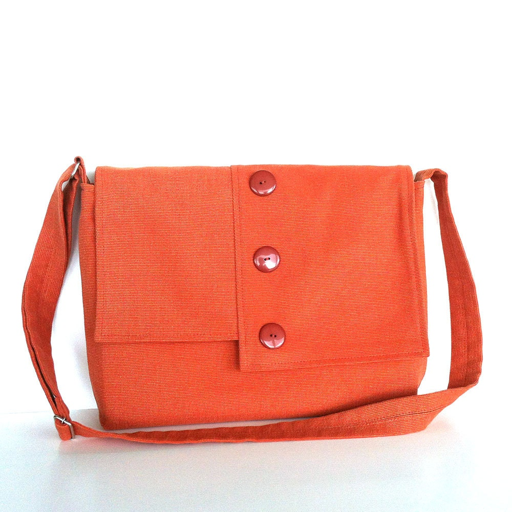 Women messenger bag Large school cross body bag in coral