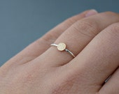 Mixed Metal Jewelry , Mixed Metal Stack Ring ,  Hammered Ring , Hammered Gold Ring