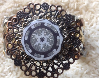 Metallic Upcycled Bracelet with a Dash of Sparkle
