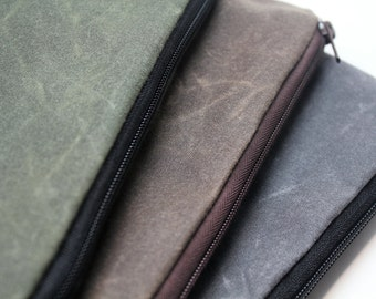 Waxed Canvas-Apple iPad Mini/Kindle Fire/Kindle Keyboard/Google Nexus 7 Case Sleeve Cover-Padded and Water Resistant - Choose Your Color
