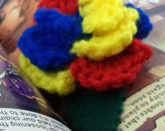 Crocheted Rose Lapel Pin - Hero 2 (SWG-PL-HEFC02)