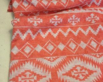 Tribal Pattern Polyester  Knit 3/4 Yard