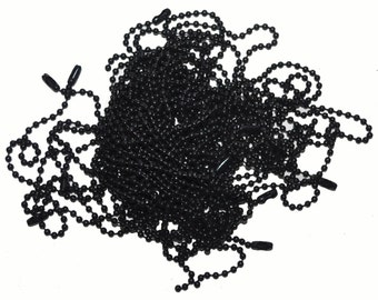 Ball Chain Necklace in BLACK  for your Soldered Art Charms Avail. in 2.4mm, 3.2mm, 6mm & 10mm
