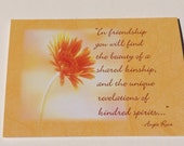 Blank Daisy Friendship Card with Quote