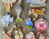 3D Dimensional Stickers Scrapbooking Card Making - 15 piece Animals, Zoo, Safari, Farm, Jungle - similar to Special Moments, JoLee's