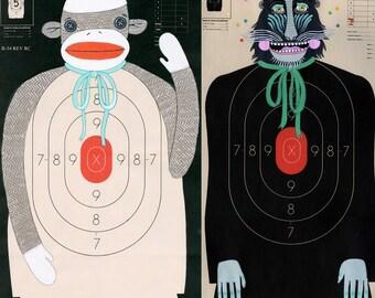 Custom Hand-Painted Paper Shooting Targets