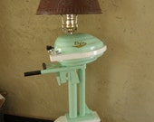 Items similar to Handmade Wood Old Style Elgin Outboard Motor Lamp ...