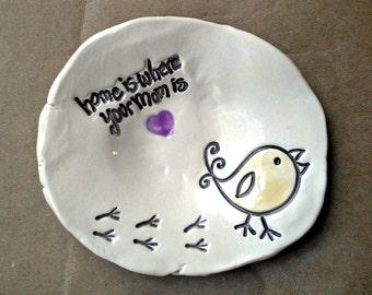 Mom Ceramic Trinket Bowl  Mothers day