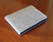 Mens Vegan Wallet Tweed Standard size Brown card 7 slot Billfold