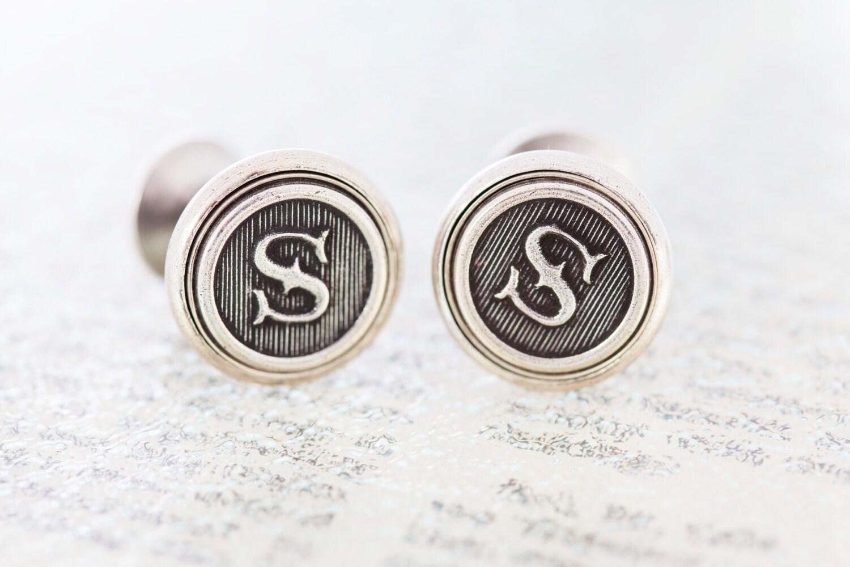 custom initial cufflinks letter cufflinks by theweekendstore With custom letter cufflinks