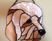 Goldendoodle or Labradoodle Stained Glass