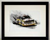 Audi Quattro Rally Car Illustration
