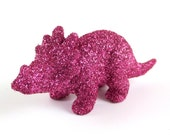 Tiny glittered triceratops!