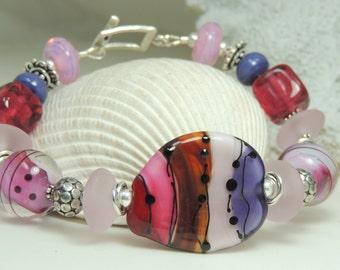 WHISPER Handmade Lampwork Bead Bracelet