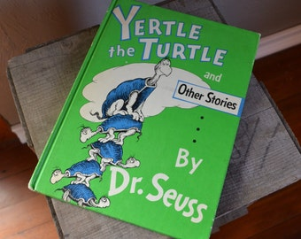 Vintage Dr Seuss Yertle tthe Turtle and Other Stories, 1958, Childrens,