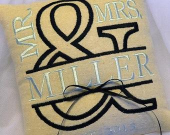 Ampersand Wedding  Ring Pillow