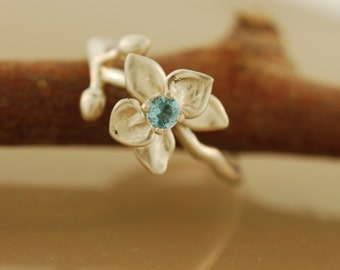 Orchid with Blue Topaz