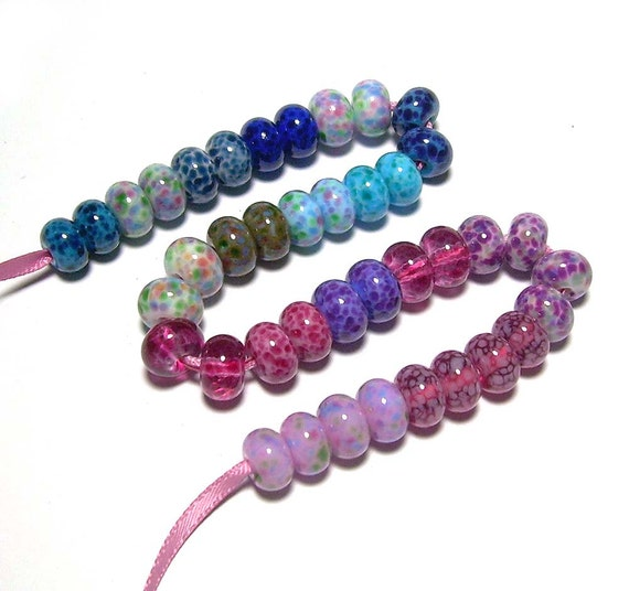 Handmade Lampwork Glass Beads Collection of Mini Beads 20 Pairs - (40 beads) on sale 20% off