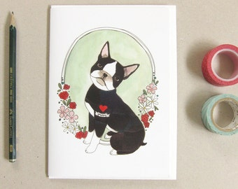 Mother's Day Card - Card for Dog Mom - Mother's Day Card Funny - Gift for Mom - Boston Terrier Card - Boston Terrier with Mom Tattoo