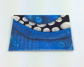 Blue Monster art card by Aaron Butcher