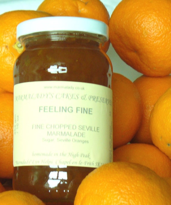 Orange Marmalade FEELING FINE  Fine Chopped Seville Marmalade