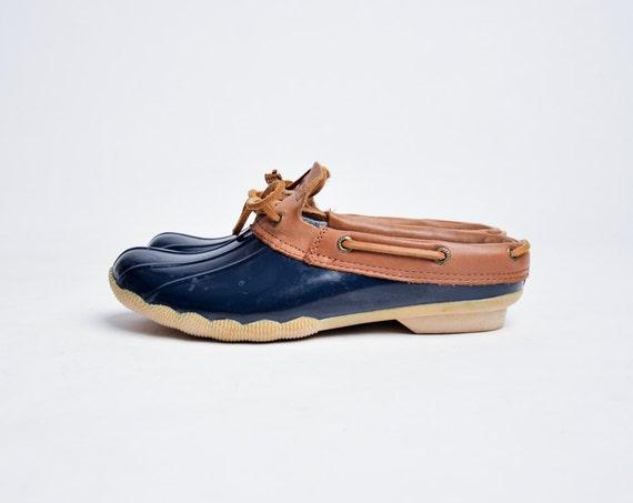 Rubber Duckie Clogs Vintage 80s Rubber Boots Vtg Duck