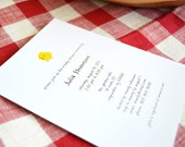 Little Chick Baby Shower Invitations - Yellow Baby Chick Card - Recycled Paper